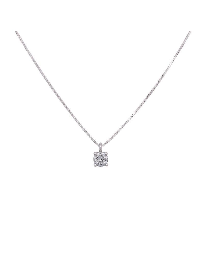 Cadena y Colgante Oro Diamante 0,53 Kts