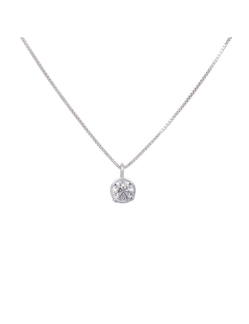 Cadena y Colgante Oro Diamante 0,47 KTS
