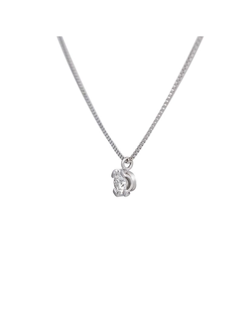 Cadena y Colgante Oro Diamante 0,20 KTS