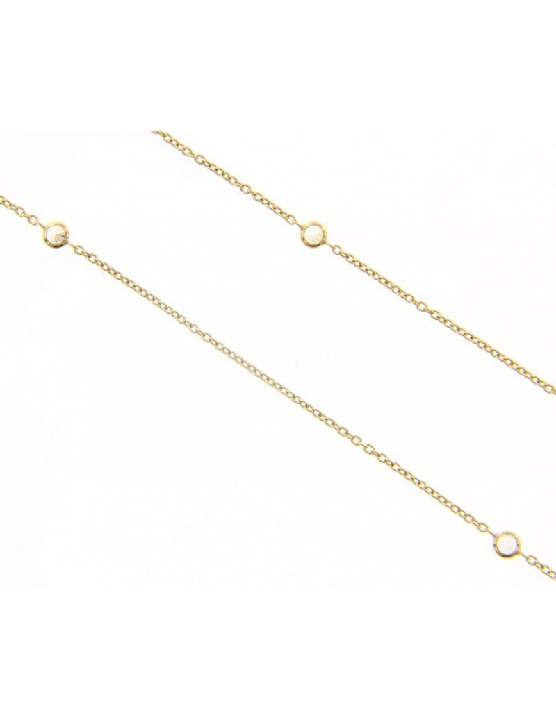 Gargantilla Oro Amarillo Circonitas