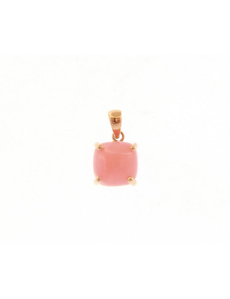 Colgante Oro Rosa con Opalo Rosa