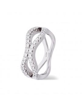 Anillo oro blanco18K con diamantes