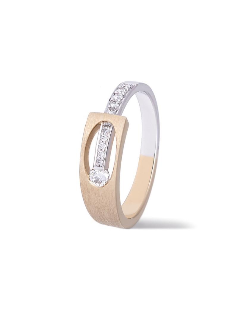 Anillo Solitario Diamantes 0,13 Kts