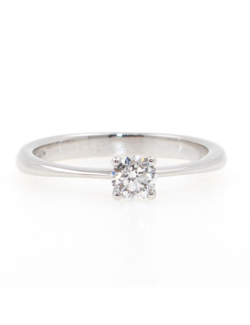 Solitario oro blanco 18K con diamante