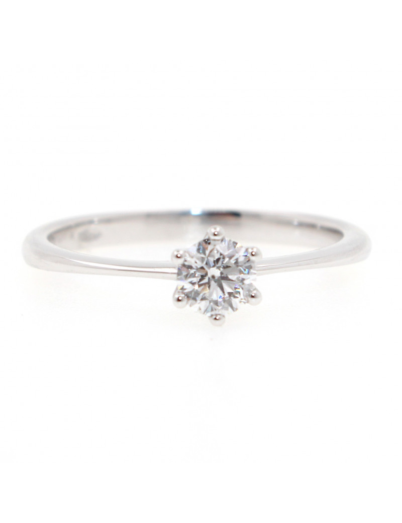 Anillo Soltario Diamante 0,35 kts