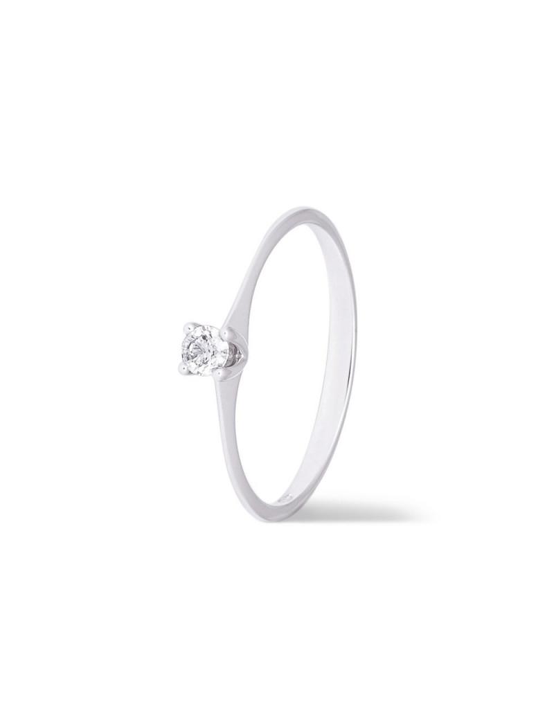 Anillo Solitario Diamante 0,13 kts