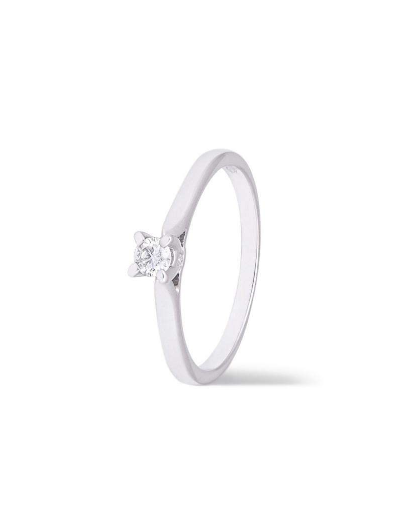Anillo Solitario Diamante 0,12 kts