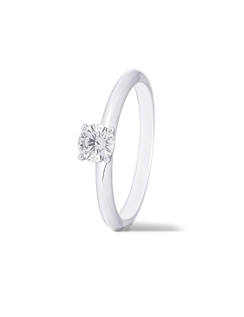 Anillo Solitario Diamante 0,32kts