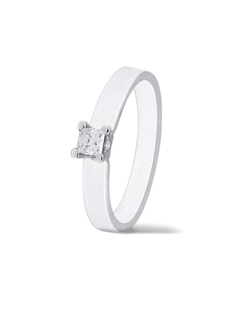 Anillo Solitario Diamante 0,20kts