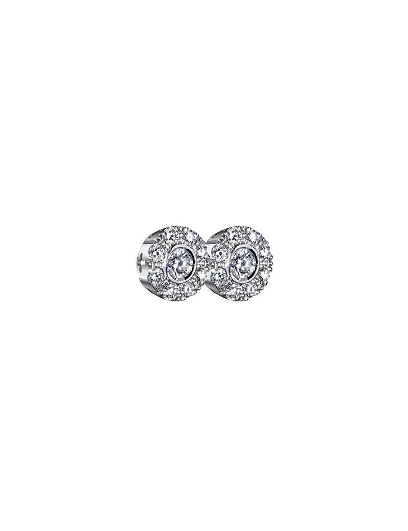 Pendientes Rosetón Diamantes 0,60kts