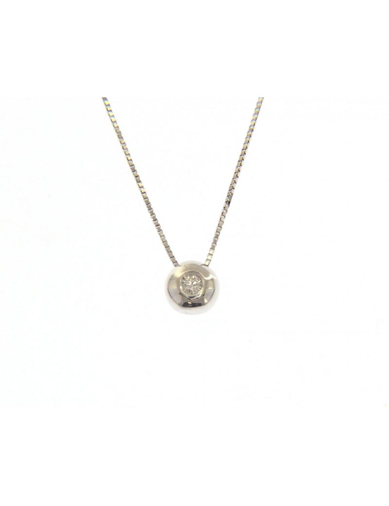 Gargantilla Chaton de Diamante 0,12 Kts