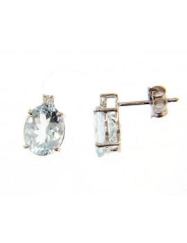 Pendientes Aguamarinas Diamantes