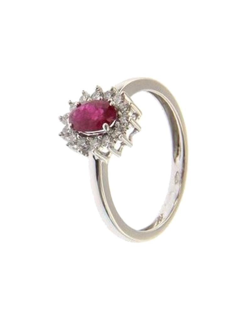 Anillo Roseton Rubi y Diamantes