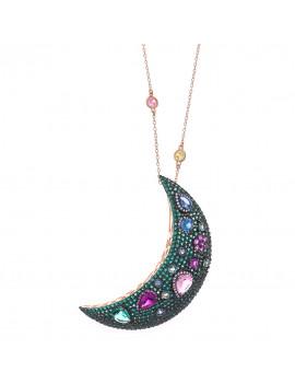 Luna con Cristales de Color
