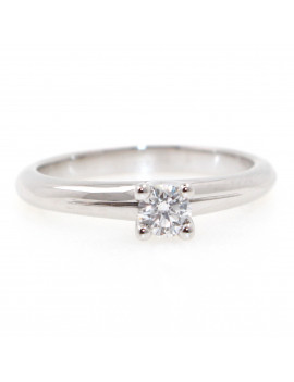 Anillo Oro Blanco Diamante 0,22kts