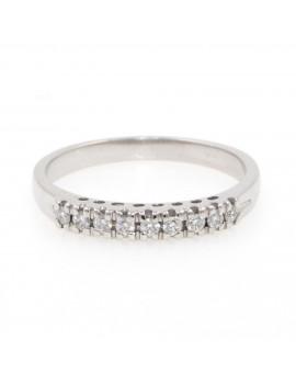 Alianza oro blanco 18K con diamante