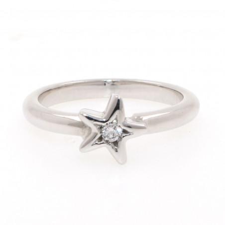 Anillo Estrella con Diamante