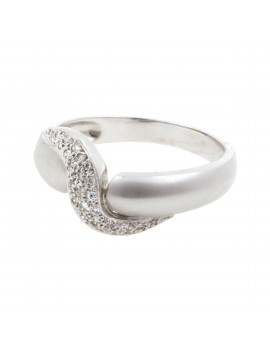 Anillo Oro Blanco Diamantes Pave