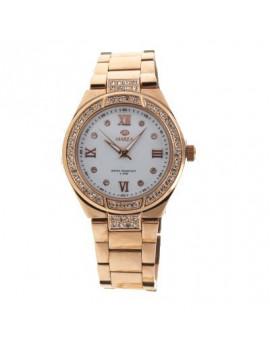 Reloj Marea Dama Chapado Oro Circonitas