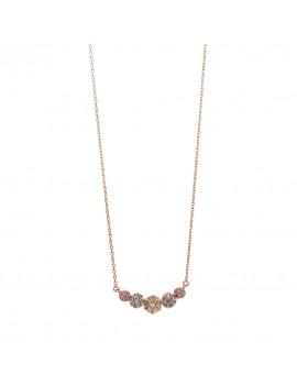 Collar Plata Chapado Rosa Circonitas