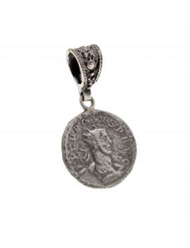 Colgante Plata Moneda Argolla Fija
