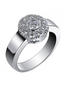 Anillo Rosetón Diamantes 0,70kts