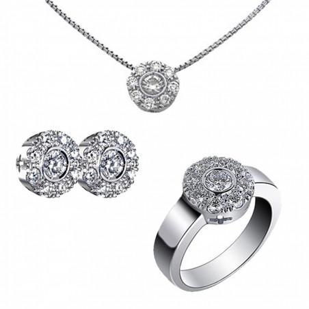 Conjunto Rosetones Diamantes 1,20 kts