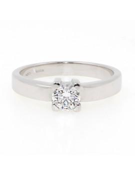 Solitario de oro blanco 18K con diamante