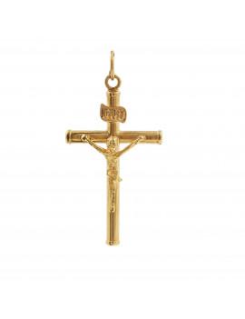 Colgante Cruz con Cristo 18kts