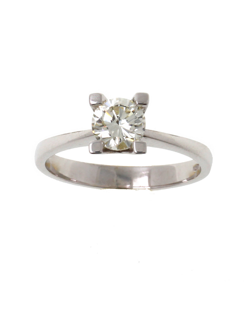 Anillo oro blanco con diamante 0,83 kts