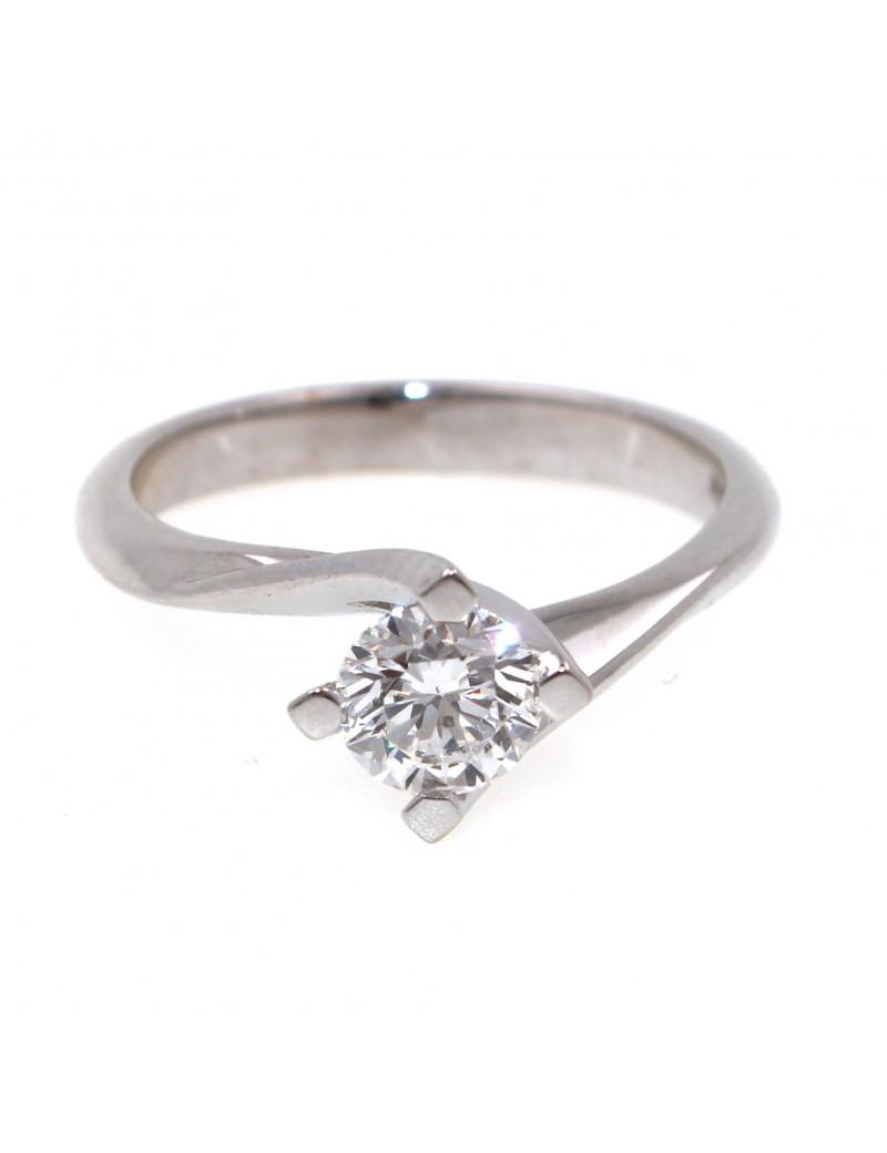 Anillo Oro Blanco con Diamante 0,71kts