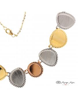 Gargantilla oro 18kilates tricolor para comprar online