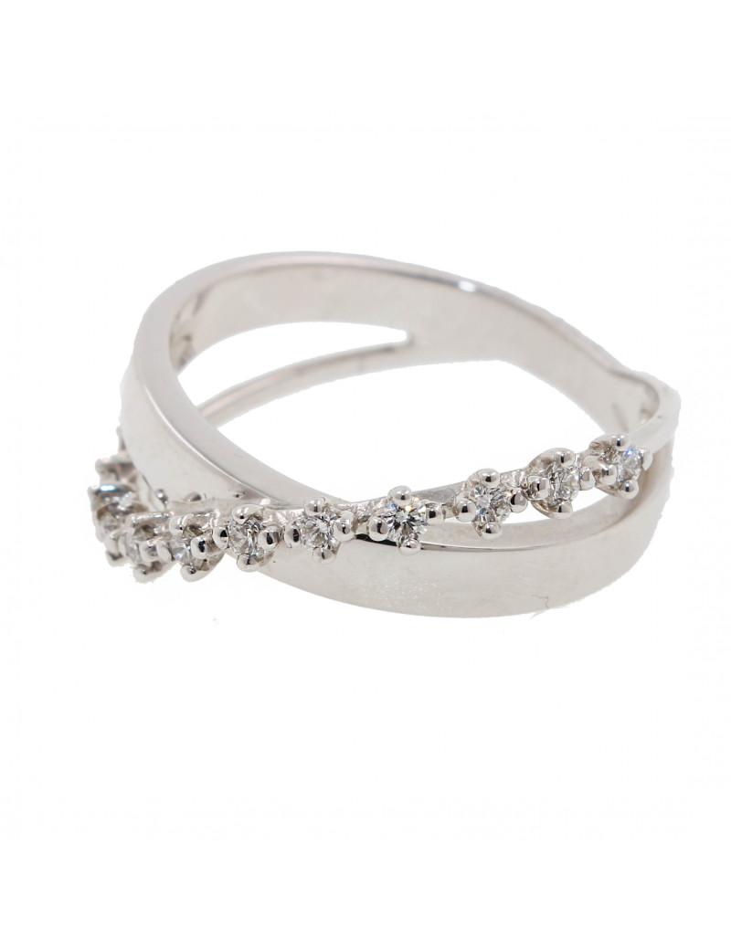Anillo oro blanco 18K con Diamantes