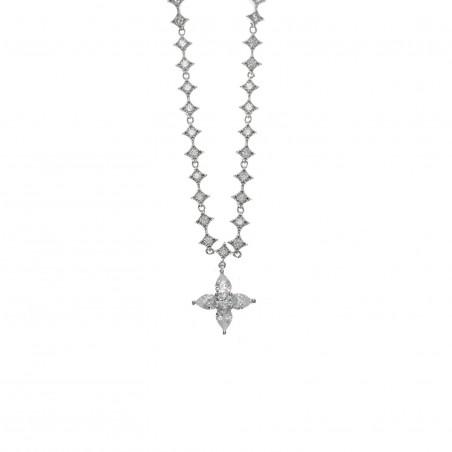 Collar Plata Estrella Circonita