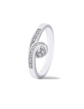 Anillo Oro Nudo Diamantes 0,14kts