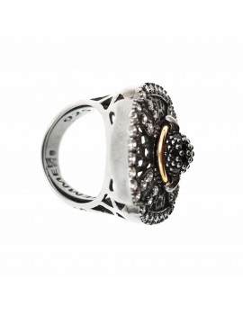 Anillo Plata y Oro Dark Princess