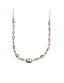 Collar de Cristales Ovalados