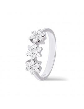 Anillo Flores Diamantes 0,41 KTS