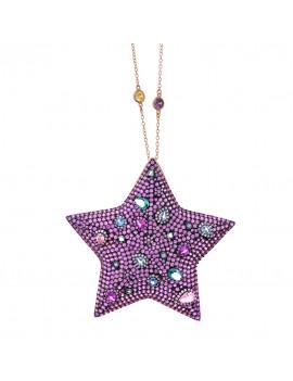 Collar Estrella Cristales Color