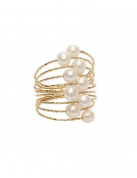 Anillo Mágico Espiral Perlas