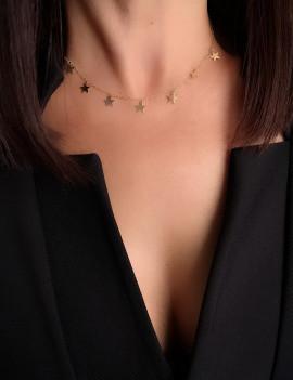Collar Estrellas Colgantes