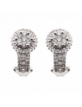 Pendientes Rosetón Diamantes 1,01 Kts