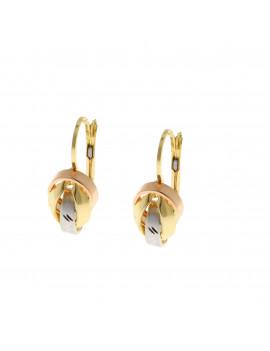 Pendientes Oro Tricolor Ovalalados