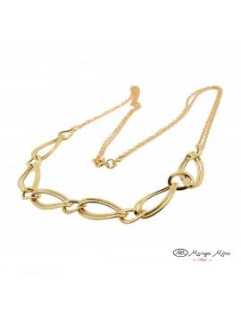 gargantilla oro amarillo eslabones combinados - comprar online