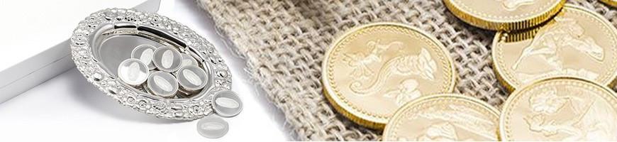 Arras de boda: Monedas de plata y de oro para la boda