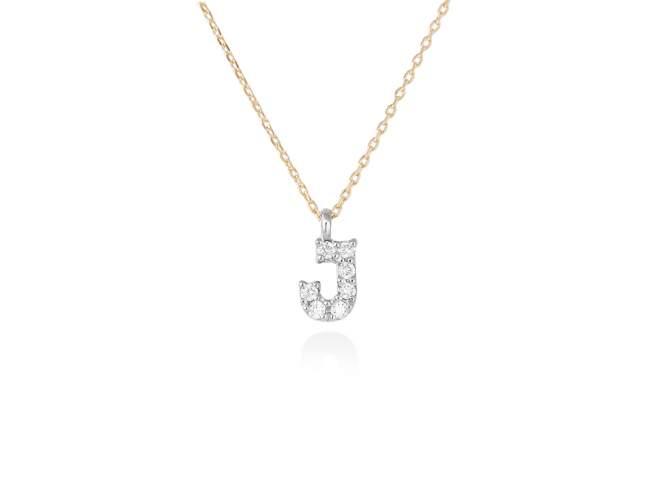 collar letra j diamantes - collar mujer inicial j oro diamantes - mejores joyerias online - joyeria marga mira