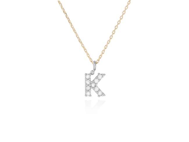 collar letra k diamantes - collar mujer inicial k oro diamantes - mejores joyerias online - joyeria marga mira