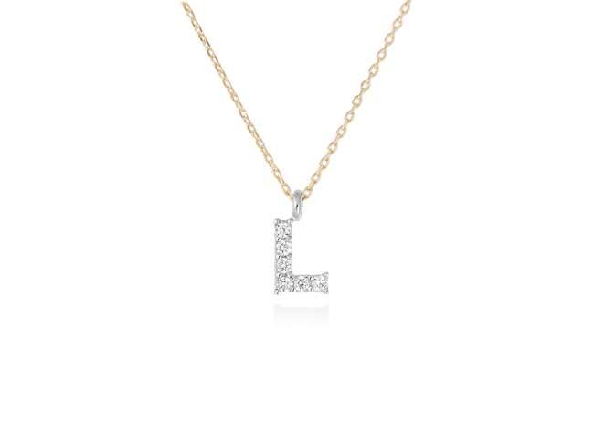 collar letra l diamantes - collar mujer inicial l oro diamantes - mejores joyerias online - joyeria marga mira