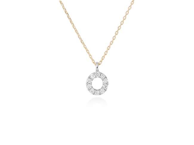 collar letra O diamantes - collar mujer inicial o oro diamantes - mejores joyerias online - joyeria marga mira