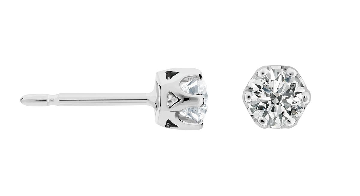 pendientes mujer dormilona diamantes - aretes de mujer oro blanco -  joyeria marga mira - mejores joyerias online españa